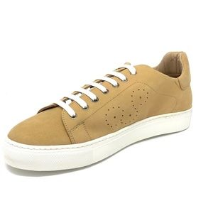 Bugatchi Nubuck Leather Maple Color Sneakers